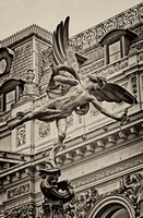 Greek God Anteros Fountain at Picadilly Circus