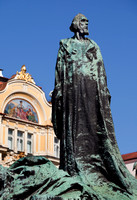 Jan Hus Monument on Old Town Square