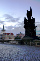 Charles Bridge Statues at Dawn